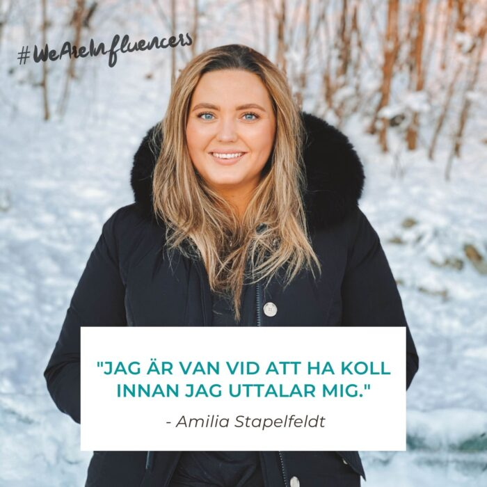 WE ARE INFLUENCERS - Amilia Stapelfeldt